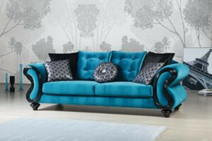 Buy Blue Fabric Sofa for living room in Lagos Nigeria
