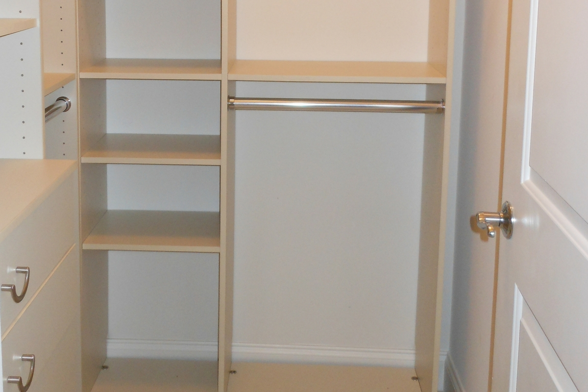 White Wooden Wardrobe With Drawers In Lagos