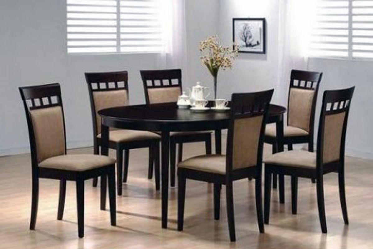 Buy black round dining table and 6 chairs in lagos nigeria for Round dining table for 6