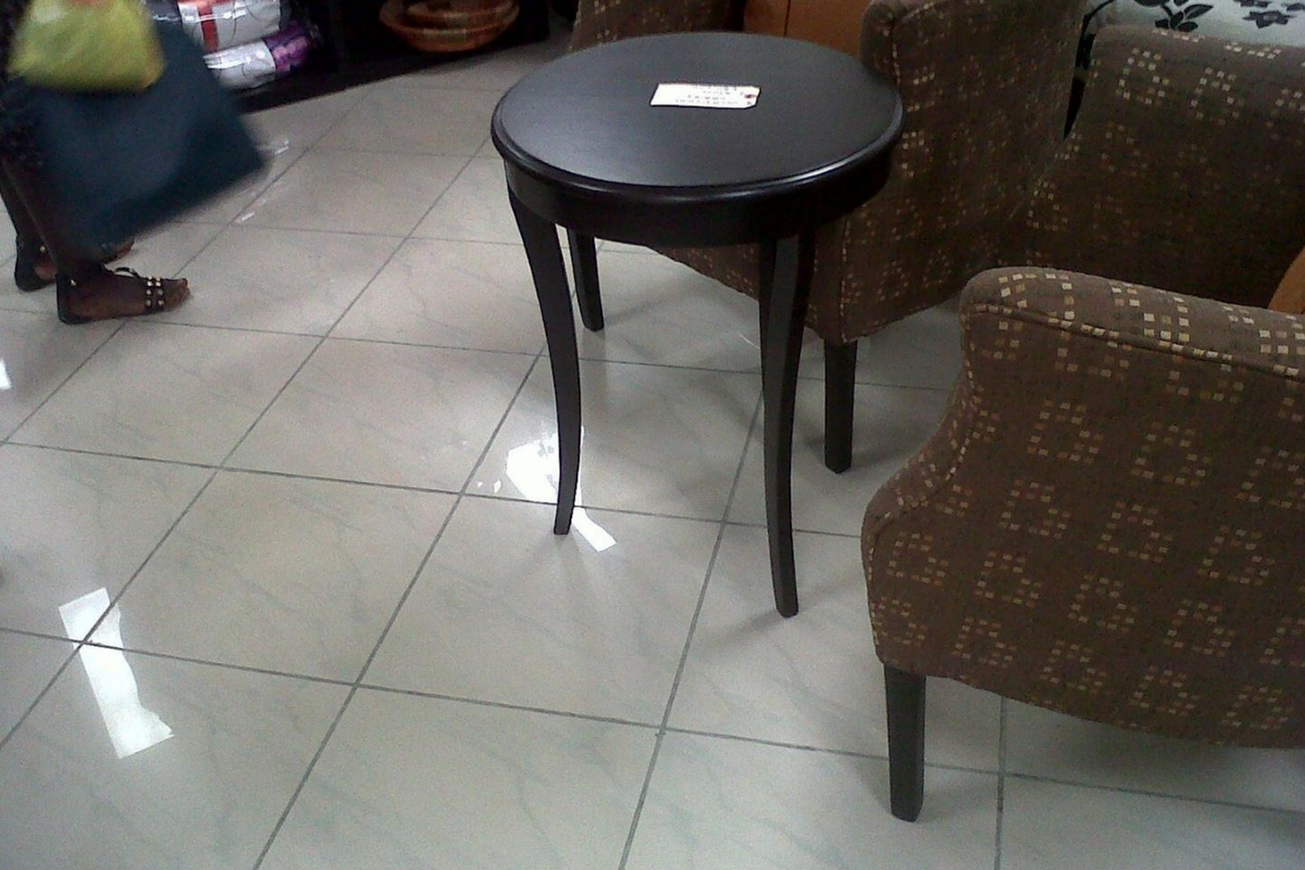 Buy black stool side table for living room in Lagos Nigeria