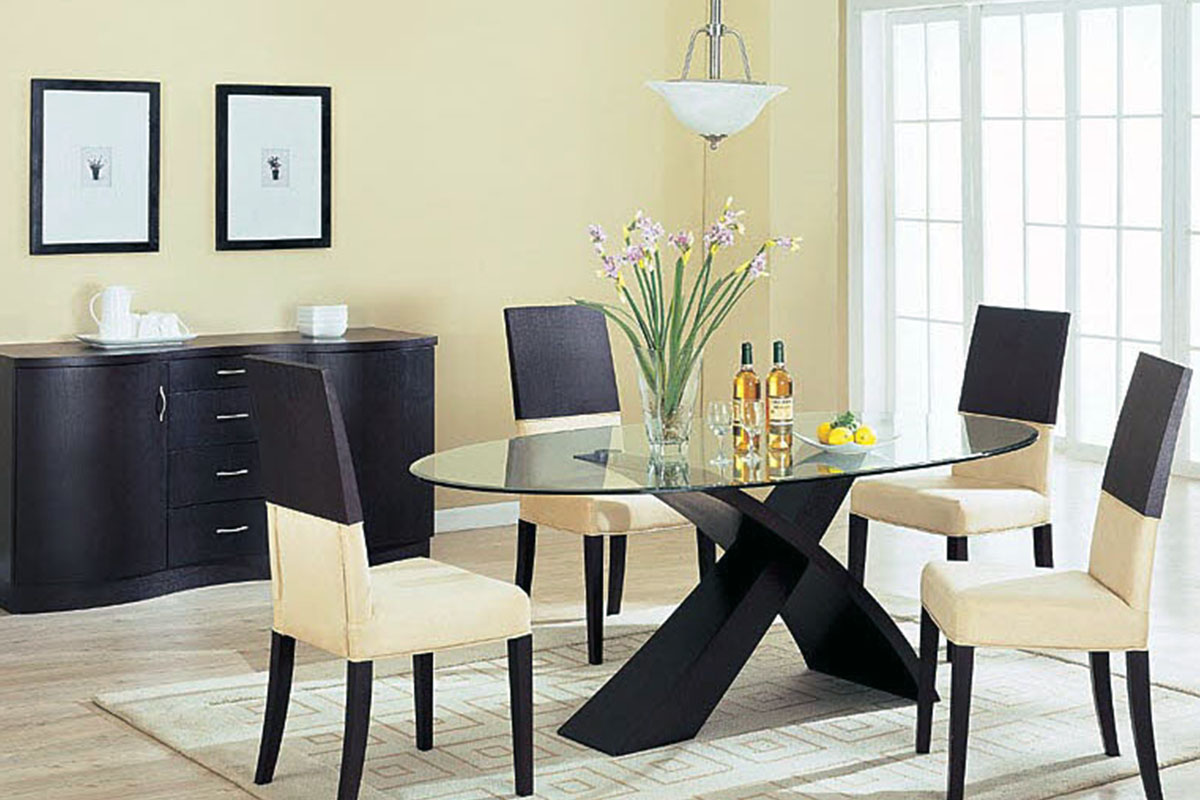 Glass top dining table living room furniture for sale in Living room decoration in nigeria