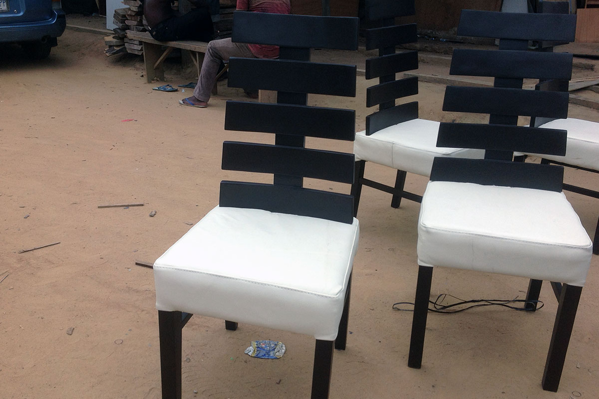 Buy White Padded Dining Chairs In Lagos Nigeria
