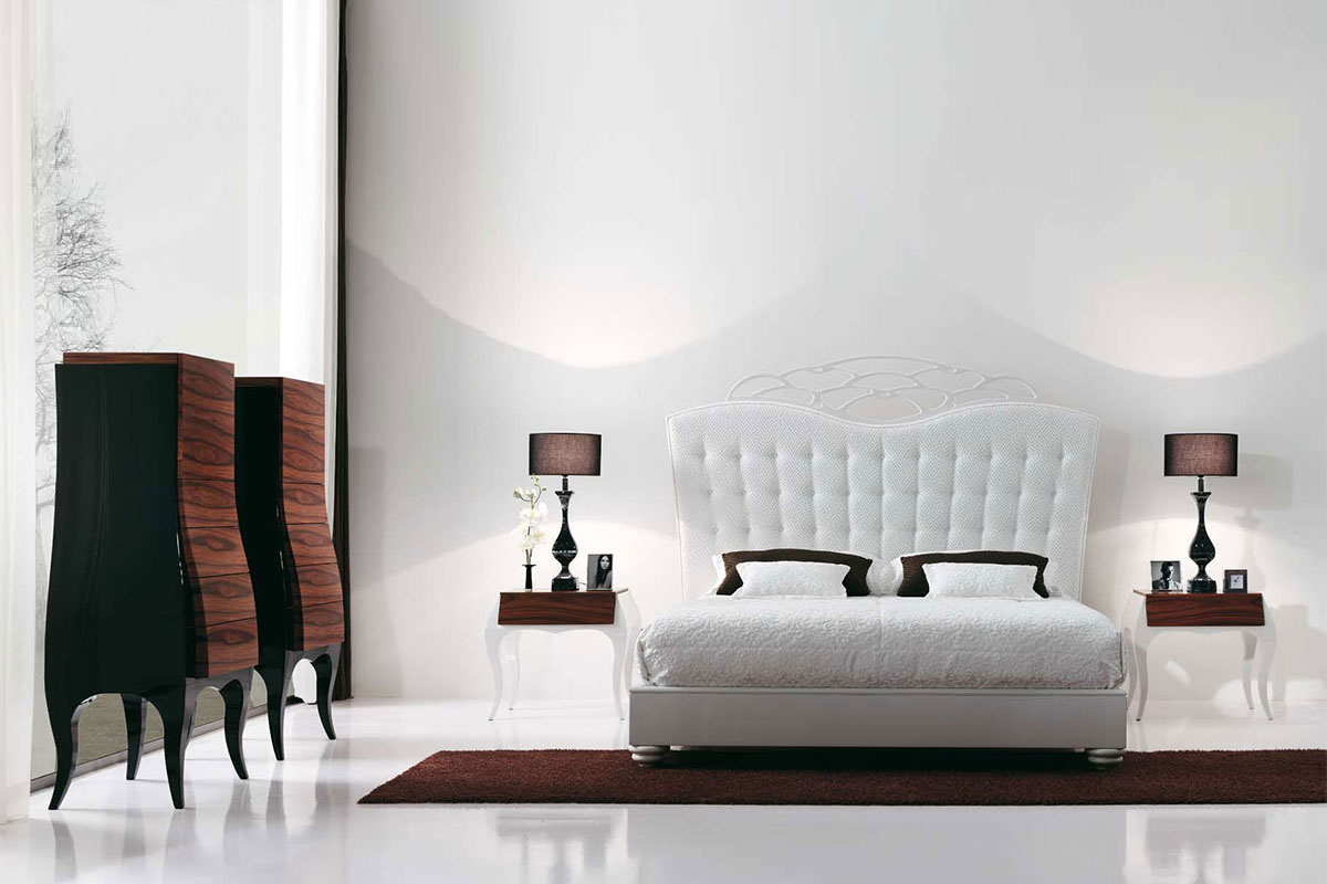 buy white platform bed with headboard in lagos nigeria