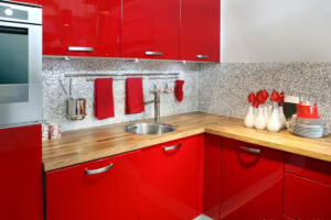 Buy red wood kitchen cabinet in Lagos Nigeria
