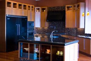 Buy Oak kitchen cabinet with black top in Lagos Nigeria