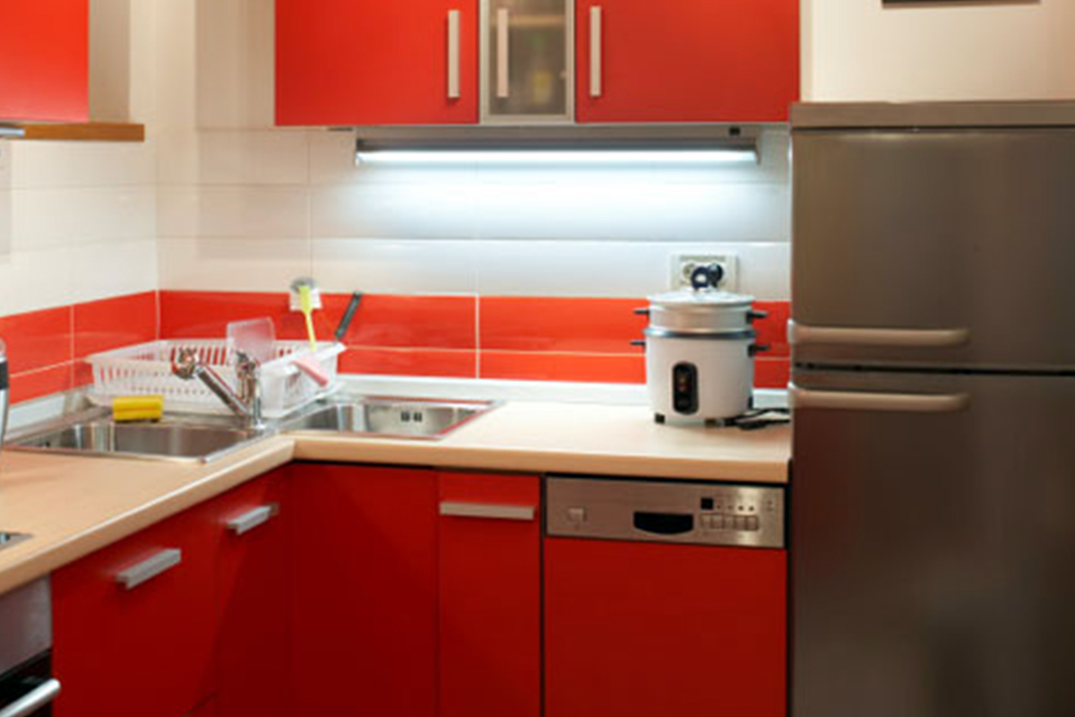 Buy red kitchen cabinet in lagos nigeria for Kitchen designs in nigeria