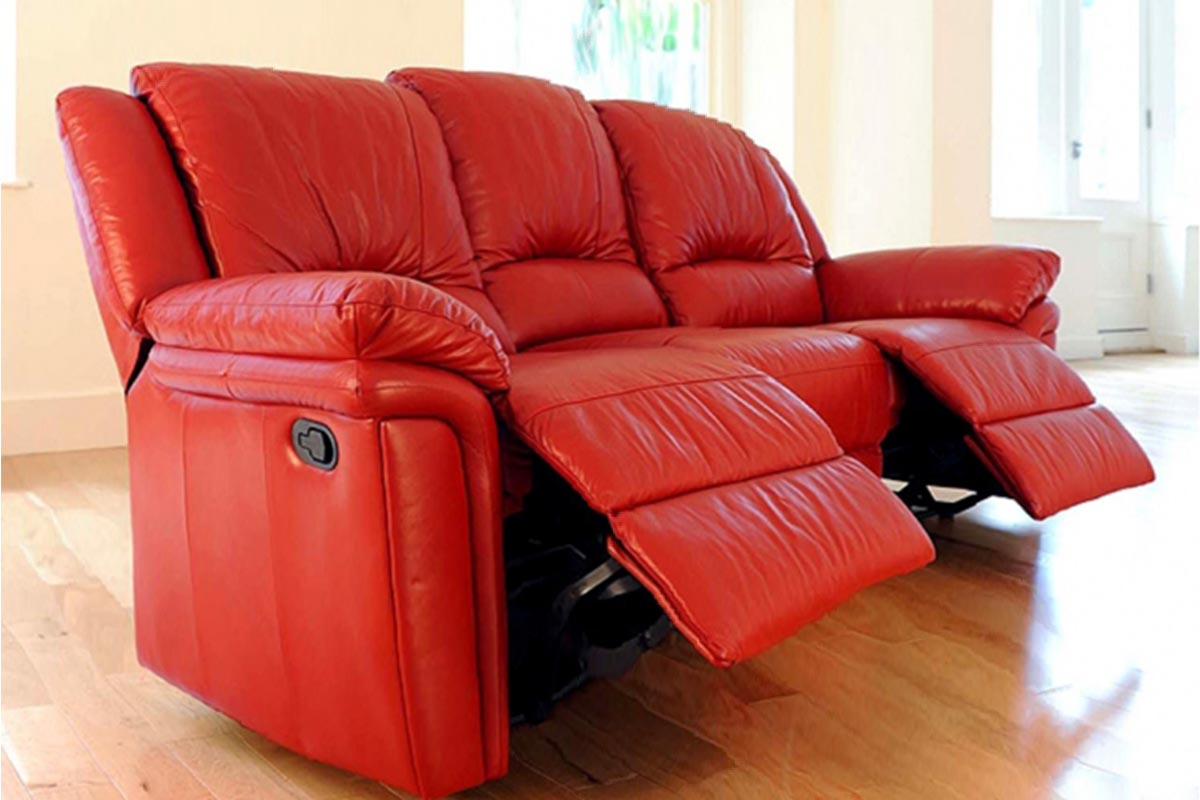 Enjoyable Buy Red Leather Recliner Sofa In Lagos Nigeria Pabps2019 Chair Design Images Pabps2019Com