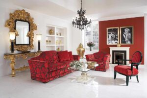 Buy red floral sofa set in Lagos Nigeria
