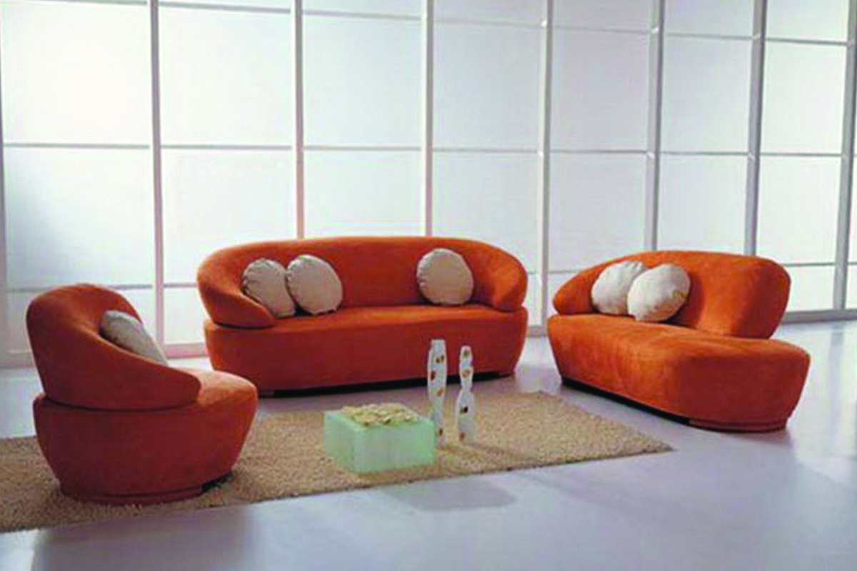 Buy orange fabric sofa set in lagos nigeria