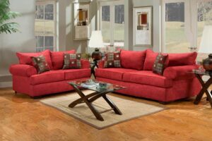 Buy red fabric sofa set in Lagos Nigeria